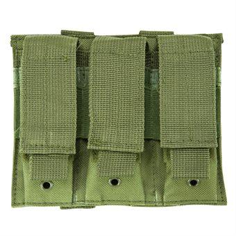 VISM 3er Magazintasche für Pistolenmagazine Oliv