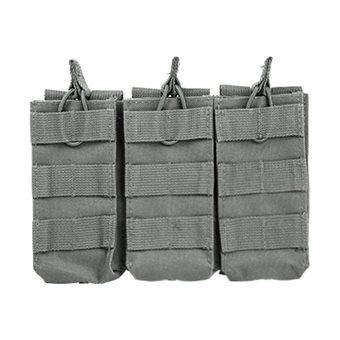 VISM 3er Magazintasche für Gewehrmagazine z.B. AR-15 oder AK47 in Grau