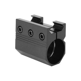 Lampenhalter / Zubehörhalter 25mm mit Weaver/ Picatinnyaufnahme AIM USA