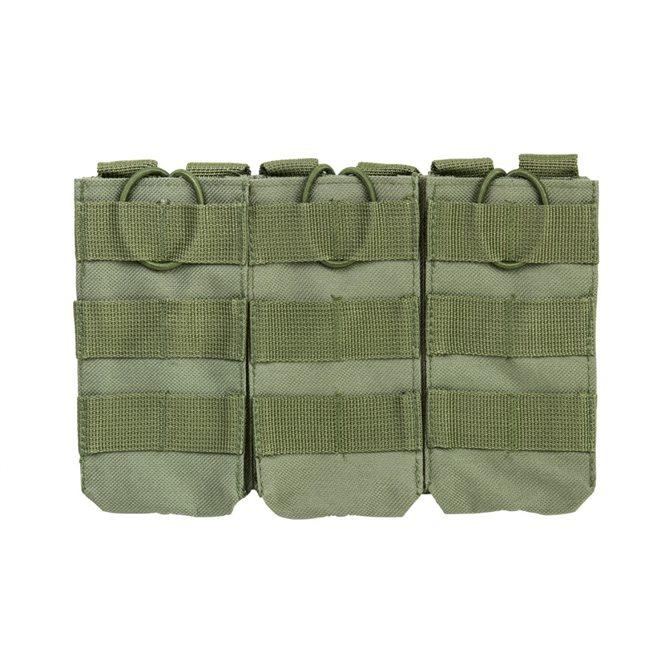 VISM 3er Magazintasche für Gewehrmagazine z.B. AR-15 oder AK47 in Oliv