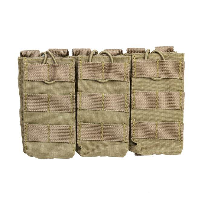 VISM 3er Magazintasche für Gewehrmagazine z.B. AR-15 oder AK47 in Sand
