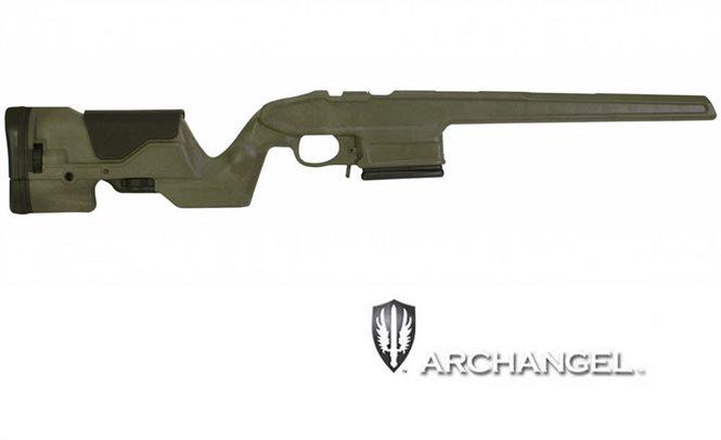 Mauser K98 Schaft / Matchschaft mit 10 Schuss Wechselmagazin Oliv Archangel