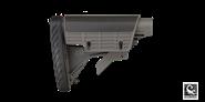 AR-15 Schaft / Schaftkörper mit Wangenauflage und gedämpfter Schaftkappe Grau ATI