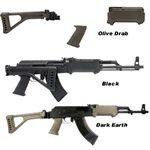 AK-47 Schaft / T6 Klappschaft + Vorderschaft + Saw Griff Schwarz Tapco