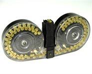 H&K MP5 Magazin / MP5 Trommelmagazin 100 Schuss Durchsichtig Beta C-MAG