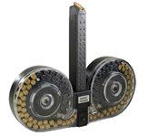 Glock Magazin / Glock Trommelmagazin 9mm 100 Schuss für 17 / 17c  / 18 / 19 / 26 / 34 Durchsichtig Beta C-Mag