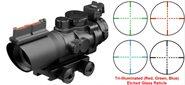 Prismatic 4X32 Zielfernrohr / taktisches kompakte Zielfernrohr  Blau, Rot und Grün beleuchtet AIM USA
