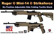 Ruger Mini-14 Schaft / Ruger Mini-30 Schubschaft / Klappschaft / Strikeforce mit Scorpion Dämpfungs-System Sand ATI TactLite