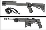 Ruger Mini-14 Schaft Ruger Mini-30 / Schubschaft / Klappschaft Strikeforce mit ScorpionDämpfungs-System Stadt-Grau ATI TactLite