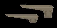 TactLite Wangenauflage Set verstellbar /  Adjustable Cheekrest Kit Sand ATI