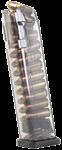 Glock 17/18/19/26/34 Magazin 9mm 22 Schuss durchsichtig ETS