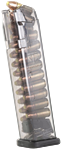 Glock 17, 19, 26, 34  Magazin 9mm 17 Schuss durchsichtig ETS