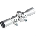 4x30 Zielfernrohr Mil-Dot mit Ringen Silber UA