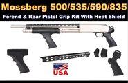 Mossberg 500 Pistolengriff, Vorderschaft mit Pistolengriff u. Hitzeschild SET ATI