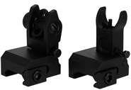 FRONT & REAR FLIP-UP IRON SIGHTS NIEDRIGES PROFIL