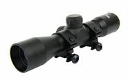 4X32 Zielfernrohr Kompakt mit Ringen MIL-DOT T-Fire USA