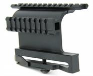 AK-47/Saiga 7.62x39  ZIELFERNROHRMONTAGE DOUBLE SIDE RAIL MOUNT PICATINNY W/QUICK RELEASE LEVERAK