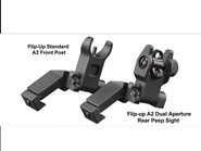 45 Grad offset Flip-Up Sight A2 Rear Sight + Front Sight  Set klappbar AIM USA